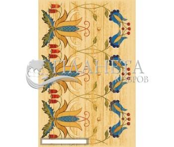 Шерстяной ковер Folk Wiano Krem - высокое качество по лучшей цене в Украине
