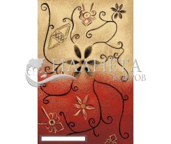 Шерстяной ковер Folk Zarnicka Koral - высокое качество по лучшей цене в Украине