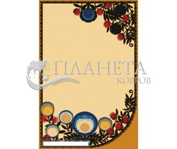 Шерстяной ковер Folk Zwyrt Krem - высокое качество по лучшей цене в Украине