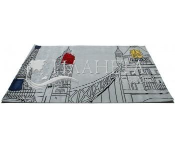 Шерстяной ковер Hand Tufted MONUMENT silver - высокое качество по лучшей цене в Украине