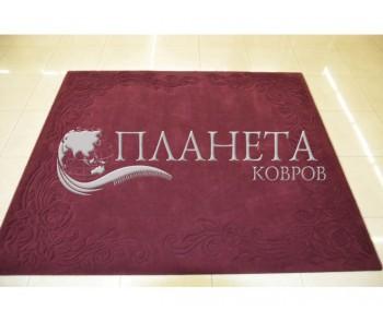 """Шерстяной ковер Rols Zenit 029 -бордовый-выстрежка """"Розы"""" - высокое качество по лучшей цене в Украине"""