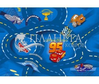 Детский ковролин World of  Cars blue 77 - высокое качество по лучшей цене в Украине