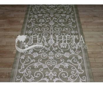 Безворсовая ковровая дорожка Cottage 2098 olive-green-wool - высокое качество по лучшей цене в Украине