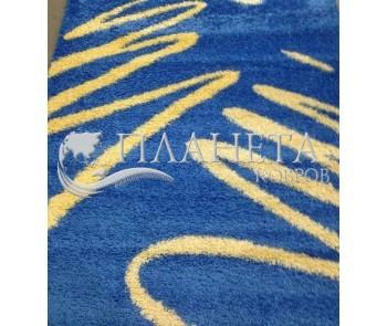 Высоковорсная ковровая дорожка Shaggy 0791 синий - высокое качество по лучшей цене в Украине