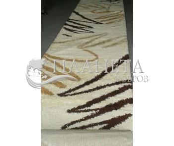 Высоковорсная ковровая дорожка Shaggy 0791 крем - высокое качество по лучшей цене в Украине