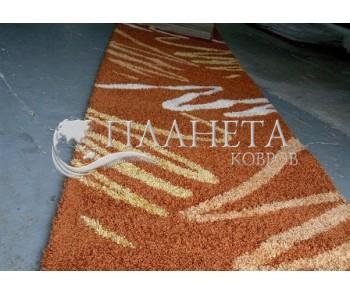 Высоковорсная ковровая дорожка Shaggy 0791 терра - высокое качество по лучшей цене в Украине