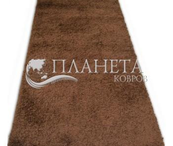 Высоковорсная ковровая дорожка Shaggy Lux 1000A brown - высокое качество по лучшей цене в Украине