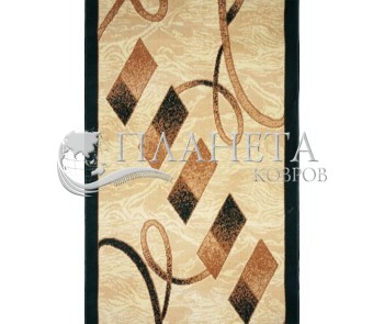 Синтетическая ковровая дорожка Almira 2327 Cream-Green - высокое качество по лучшей цене в Украине