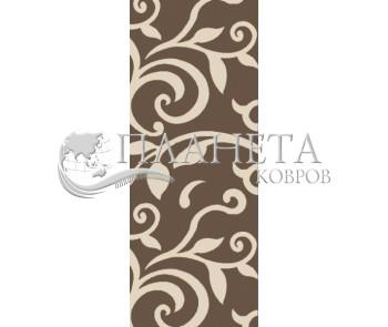Синтетическая ковровая дорожка Tricolor 921A kafe - высокое качество по лучшей цене в Украине