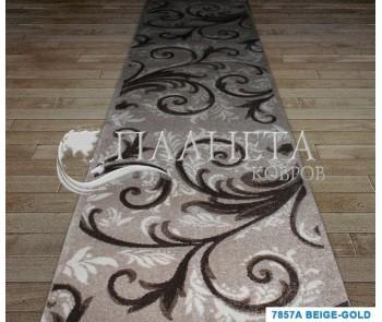 Синтетическая ковровая дорожка Sierra 7857A beige-gold - высокое качество по лучшей цене в Украине