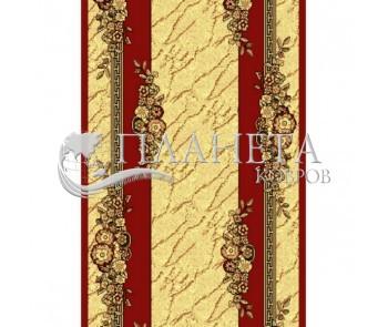 Синтетическая ковровая дорожка Silver  / Gold Rada 029-22 red Рулон - высокое качество по лучшей цене в Украине