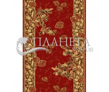 Синтетическая ковровая дорожка Silver  / Gold Rada 303-22 red - высокое качество по лучшей цене в Украине