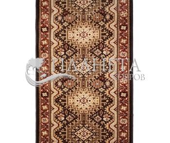 Синтетическая ковровая дорожка Standard Remo dark brown - высокое качество по лучшей цене в Украине