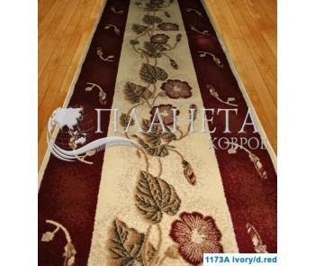 Синтетическая ковровая дорожка Super Elmas 1173A ivory-d.red - высокое качество по лучшей цене в Украине