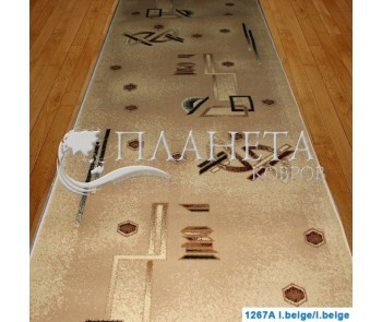 Синтетическая ковровая дорожка Super Elmas 1267A l.beige-l.beige - высокое качество по лучшей цене в Украине