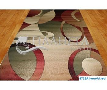 Синтетическая ковровая дорожка Super Elmas 4723A ivory-d.red - высокое качество по лучшей цене в Украине