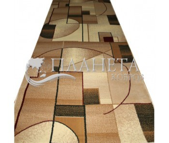 Синтетическая ковровая дорожка Super Elmas 1563b ivory-l.beige - высокое качество по лучшей цене в Украине