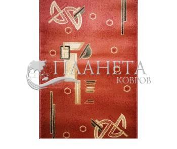 Синтетическая ковровая дорожка Super Elmas 1267A rose-rose - высокое качество по лучшей цене в Украине