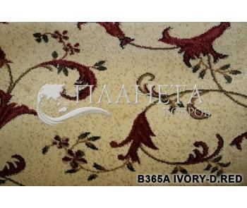 Синтетическая ковровая дорожка Super Elmas B365A ivory-d.red - высокое качество по лучшей цене в Украине