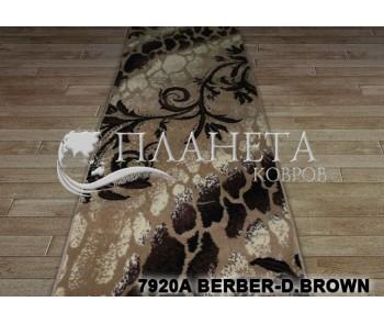 Синтетическая ковровая дорожка Tabriz 7920A berber-d.brown - высокое качество по лучшей цене в Украине