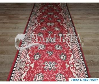 Синтетическая ковровая дорожка Tabriz 7884A l.red-ivory - высокое качество по лучшей цене в Украине