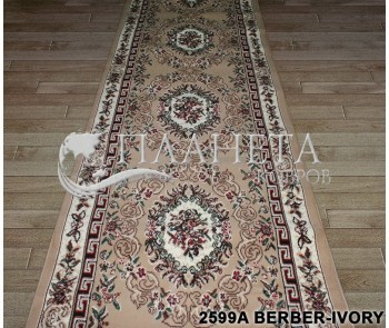Синтетическая ковровая дорожка Tabriz 2599A berber-ivory - высокое качество по лучшей цене в Украине
