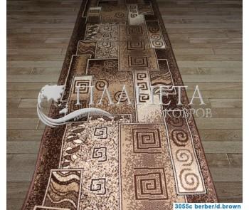 Синтетическая ковровая дорожка Tabriz 3055C berber-d.brown - высокое качество по лучшей цене в Украине