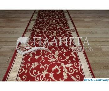 Синтетическая ковровая дорожка Tabriz 3817A l.red-ivory - высокое качество по лучшей цене в Украине