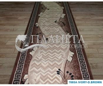 Синтетическая ковровая дорожка Tabriz 7885A ivory-d.brown - высокое качество по лучшей цене в Украине