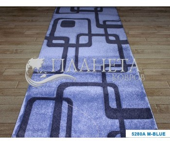 Синтетическая ковровая дорожка Tuna New 5280A blue - высокое качество по лучшей цене в Украине