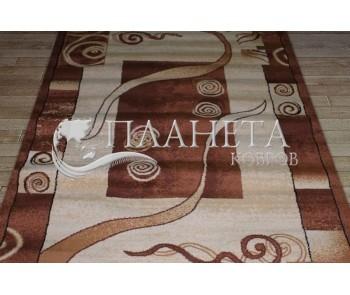 Синтетическая ковровая дорожка Tutku 4623A ivory-d.brown - высокое качество по лучшей цене в Украине