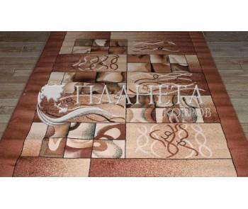 Синтетическая ковровая дорожка Tutku 5014A d.brown-ivory - высокое качество по лучшей цене в Украине
