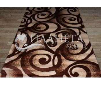 Синтетическая ковровая дорожка Tutku 6356A d.brown-ivory - высокое качество по лучшей цене в Украине