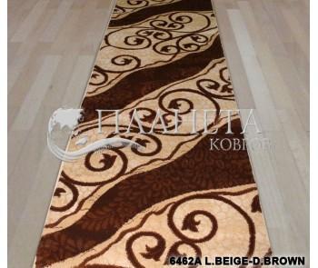 Синтетическая ковровая дорожка Tutku 6462A l.beige-d.brown - высокое качество по лучшей цене в Украине