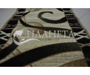 Синтетическая ковровая дорожка Tutku 6449A ivory-d.green - высокое качество по лучшей цене в Украине
