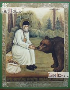 Килим Ікона 527 Серафим кормить ведмедя - высокое качество по лучшей цене в Украине.