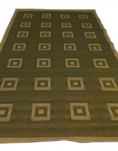 Безворсовый ковер Sisal 00012 green-cream - высокое качество по лучшей цене в Украине.
