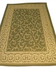 Безворсовый ковер Sisal 00014 green-cream - высокое качество по лучшей цене в Украине.