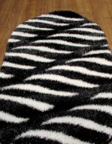 Высоковорсный ковер 3D Polyester B114 BLACK-CREAM - высокое качество по лучшей цене в Украине.