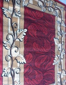 Синтетичний килим Amber 0746A Hardal-Bordo - высокое качество по лучшей цене в Украине.