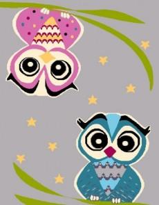 Синтетический ковер Funky Top Owl Szary - высокое качество по лучшей цене в Украине.