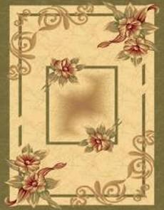 Синтетический ковер Imperial 6777 cream-moss - высокое качество по лучшей цене в Украине.