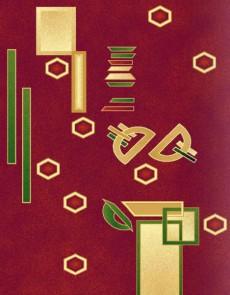 Синтетический ковер Selena 375 , RED - высокое качество по лучшей цене в Украине.