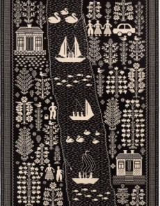 Шерстяной ковер Folk Echo Czarny - высокое качество по лучшей цене в Украине.