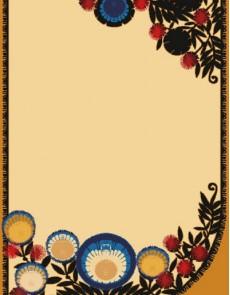 Шерстяной ковер Folk Zwyrt Krem - высокое качество по лучшей цене в Украине.