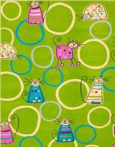 Детский ковер Funky Top Super Feline Zielony - высокое качество по лучшей цене в Украине.