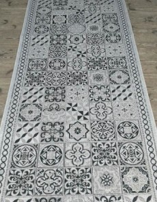Безворсова килимова доріжка Natura 20369 Silver-Black  - высокое качество по лучшей цене в Украине.