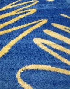 Високоворсна килимова доріжка Shaggy 0791 синій - высокое качество по лучшей цене в Украине.
