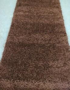 Високоворсна килимова доріжка Shaggy Mono 0720 коричневий - высокое качество по лучшей цене в Украине.
