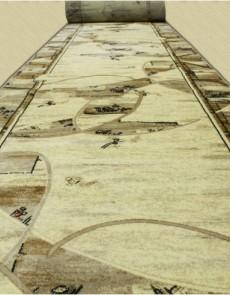 Синтетическая ковровая дорожка Selena / Lotos 554-100 beige - высокое качество по лучшей цене в Украине.